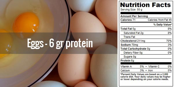 protein in eggs