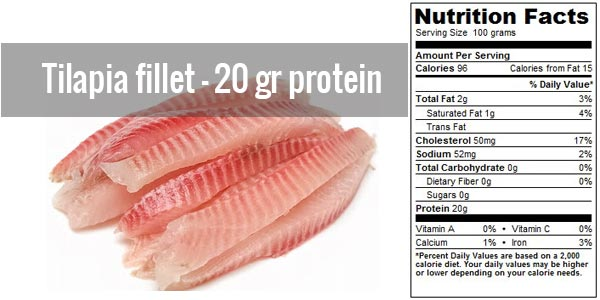 protein in tilapia fillet