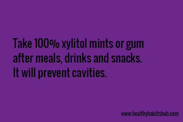 xylitol against cavities