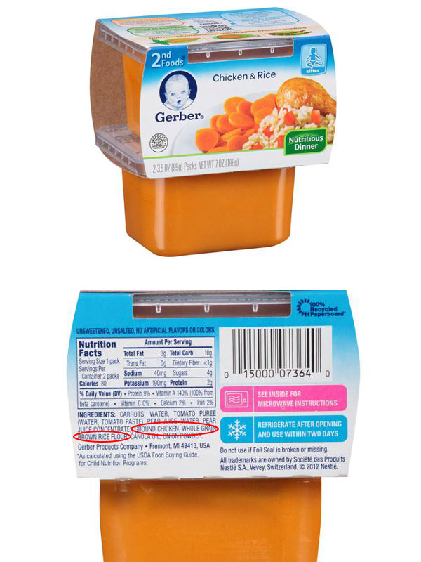 Gerber Chicken Baby Food Nutrition Facts