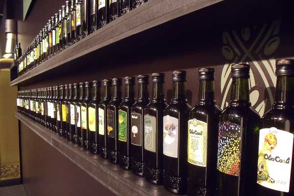 olive oil in shelf