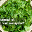 Iron content in spinach