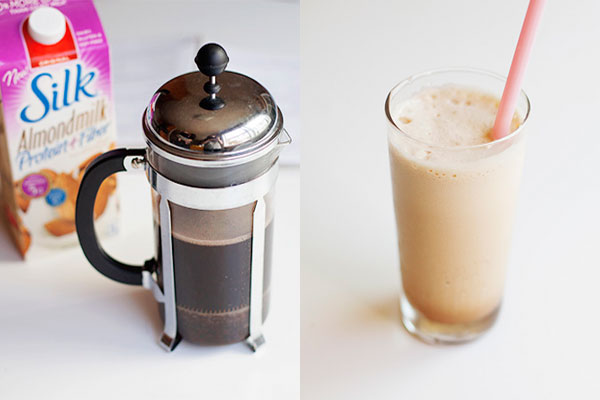 Nut milk to sweeten coffee without sugar