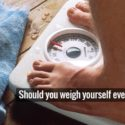 weighing yourself on the scale