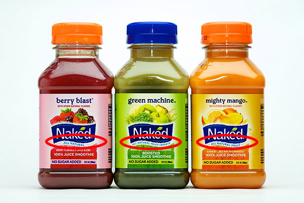 All natural fruit juice packed with sugar