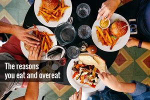 people eat and overeat at the table